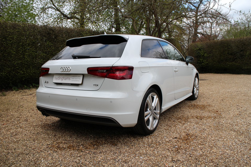 audi a3 2 0 tdi s line 3dr hedinghams. Black Bedroom Furniture Sets. Home Design Ideas